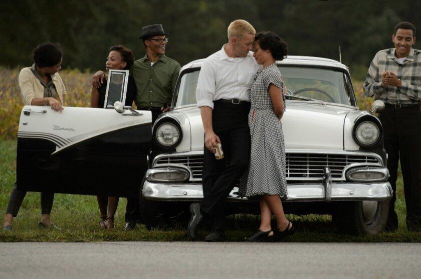 "Joel Egerton as Richard and Ruth Nega as Mildred in ""Loving."""