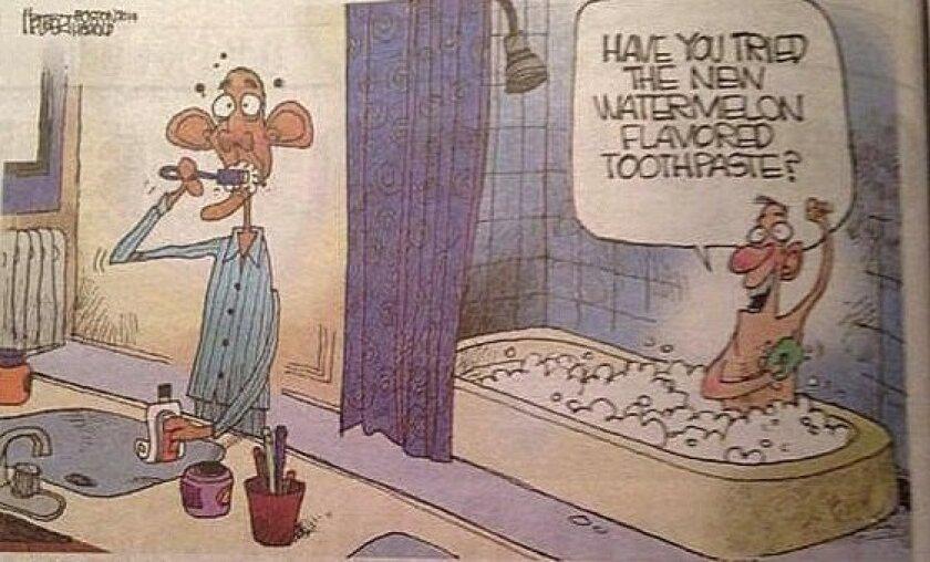 This cartoon ran in the Boston Herald Wednesday, Oct. 1 2014.