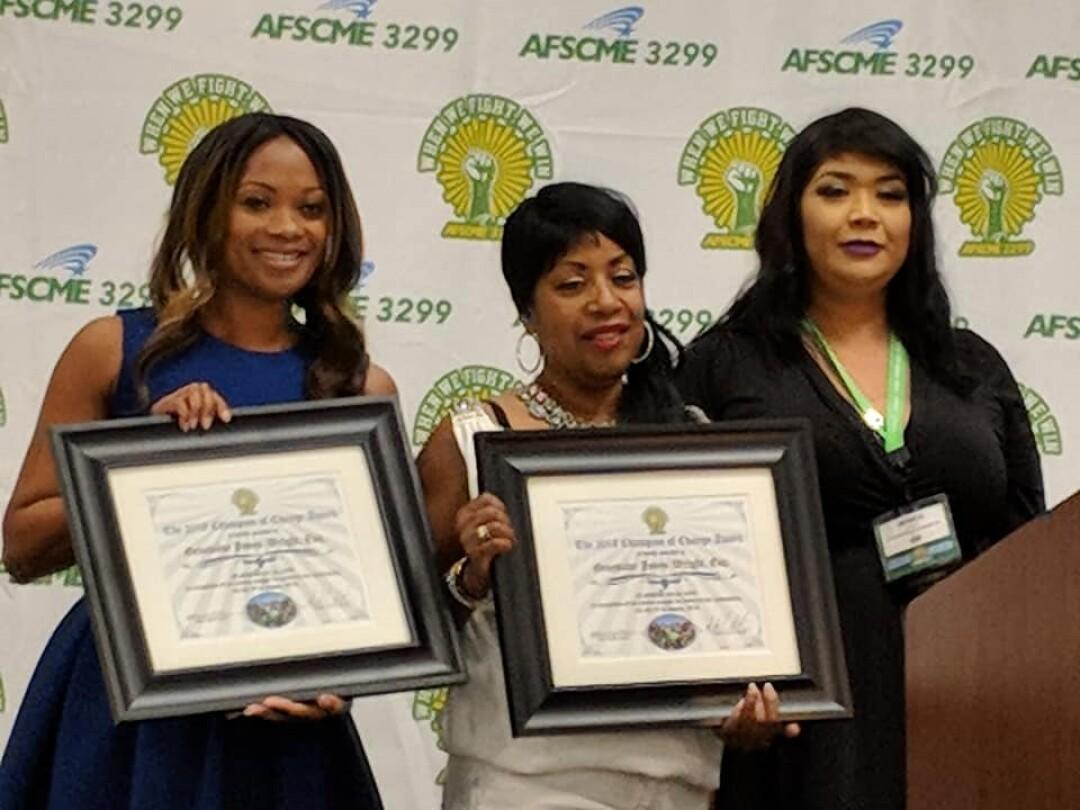 Geneviéve Jones-Wright (left) and her mother, Mae Jones (middle.)