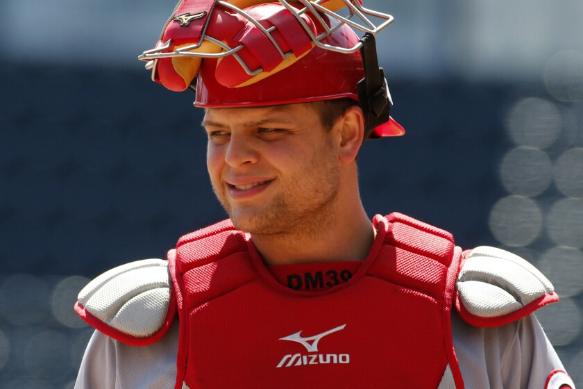 Cincinnati Reds catcher Devin Mesoraco has been put on the 15-day disabled list Saturday because of a strained left hamstring.