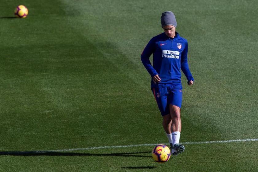 El jugador del Atlético de Madrid Antoine Griezmann. EFE/Archivo