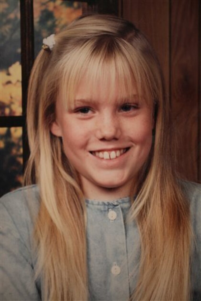FILE - This is an undated file family photo released Aug. 27, 2009 by Carl Probyn of his stepdaughter, Jaycee Lee Dugard who went missing in 1991. The world already was riveted by the case of Jaycee Dugard, abducted as an 11-year-old while walking to school and held as a sex slave for 18 years in the backyard of a paroled rapist. But the testimony she gave to a grand jury, released Thursday, June 2, 2011, after her captor and his wife were sentenced to prison, shows the horror she endured in painful detail and opens a window into the dark mind of a manipulative serial sex offender. (AP Photo/Carl Probyn, File)