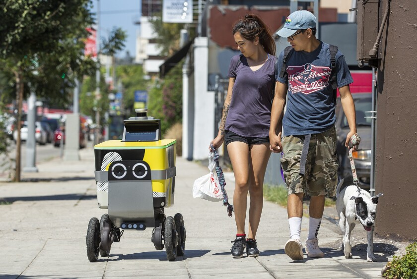 Postmates plans to use its Serve robots to make deliveries in Los Angeles — if it can get them to work reliably.