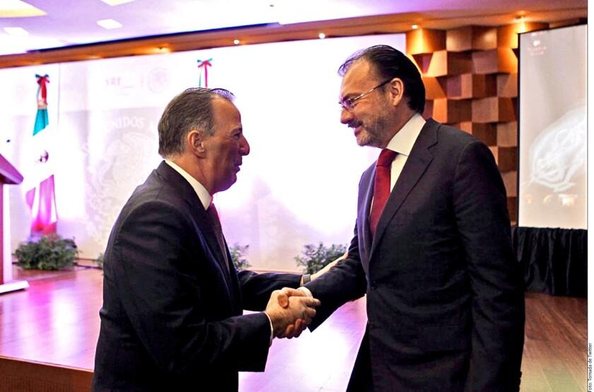 El Secretario de Relaciones Exteriores, Luis Videgaray, llamó a no confundir los elogios que lanzó ayer al titular de Hacienda, José Antonio Meade.