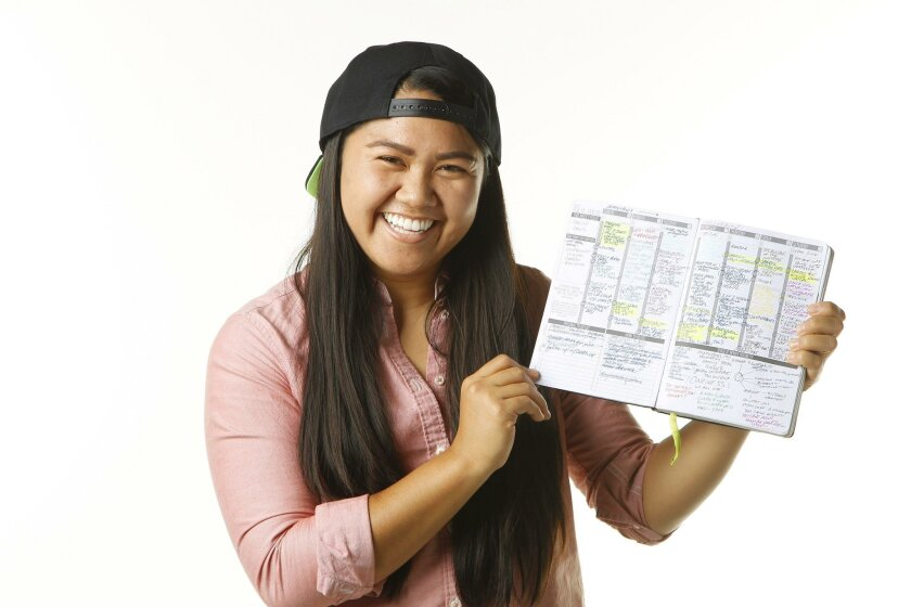 """Angelia Trinidad, who created and designed Passion Planner, a """"life tool and personal coach for recent college grads and young professionals."""""""