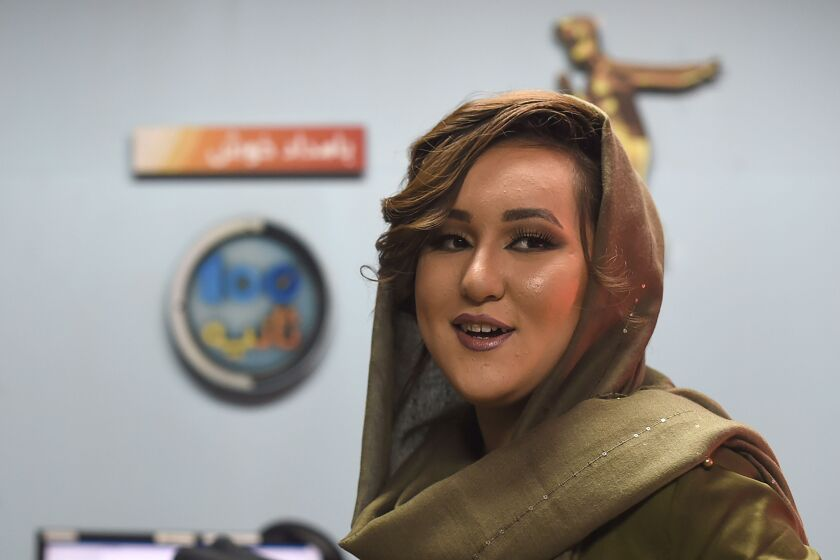 "Zahra Elham, 2019 winner of Afghanistan's TV music competition, ""Afghan Star"""