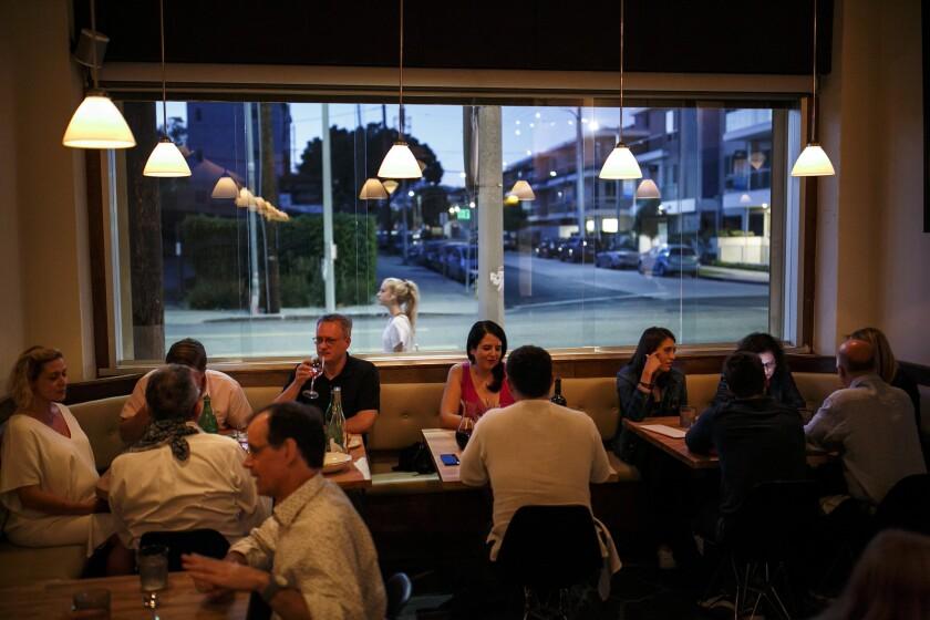Restaurant patrons dine at Kali.