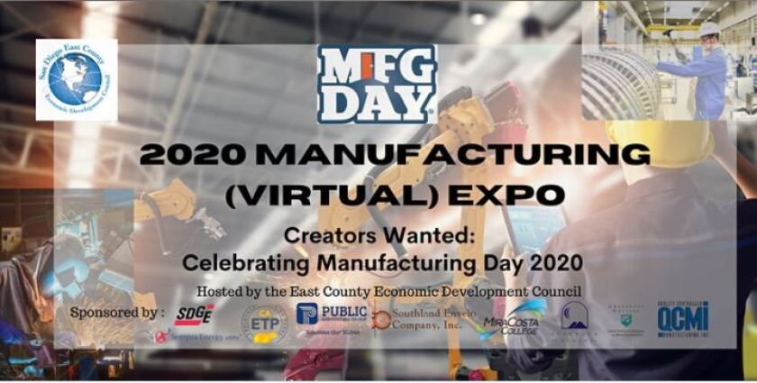 The fifth annual East County Economic Development Council Manufacturing Expo will be held virtually on Oct. 1.
