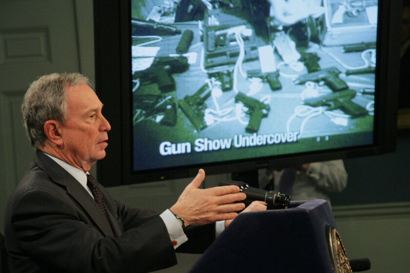 Michael R. Bloomberg, seen in this 2011 file photograph, pledged to spend $50 million to promote gun-control efforts across the nation.