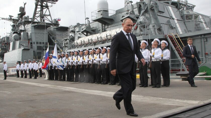 Russian President Vladimir Putin Visits New Naval Base Of Black Sea Fleet In Novorossiysk