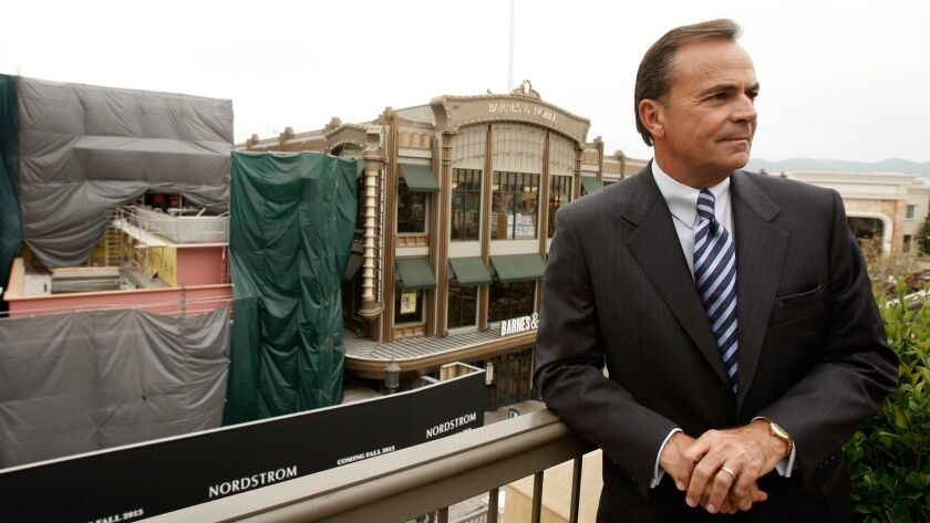 Rick J. Caruso overlooks Nordstrom, under construction at The Americana at Brand in Glendale in 2013.