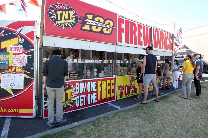 People shop for fireworks