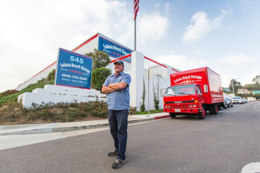 Employee Bob Phillips with a company truck at Solana Beach Storage, 545 Stevens Ave., Solana Beach. (858) 755-5550. solanabeachstorage.com