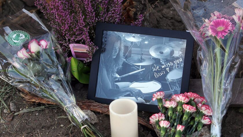 This was scene around the pine tree that fell on Ingraham Street in Pacific Beach in January 2016, killing San Diego musician Nicki Carano.