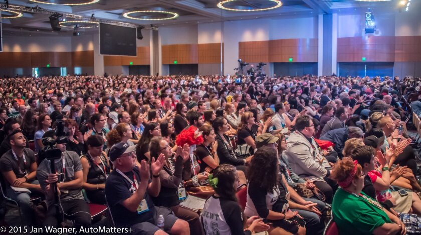 Fans at a panel during San Diego Comic-Con.