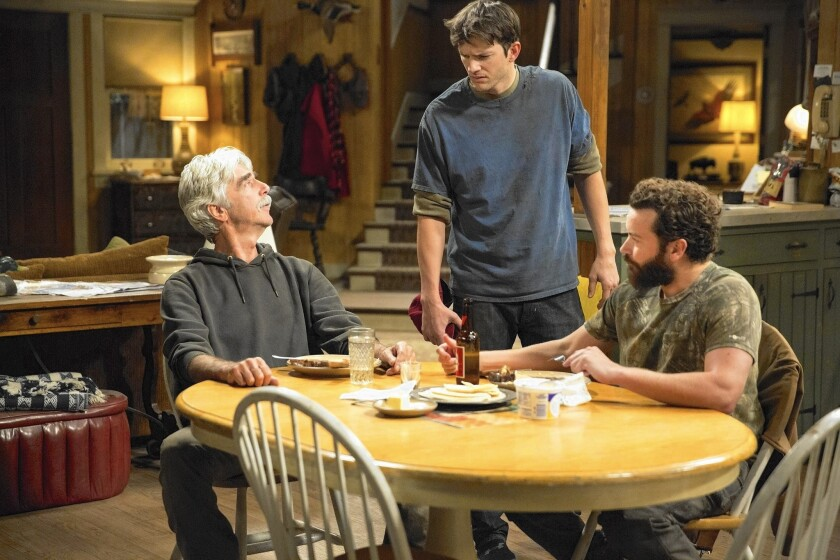 """The Ranch"" features Sam Elliott, left, Ashton Kutcher and Danny Masterson. The sitcom debuts Friday."