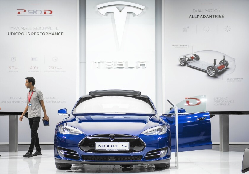 Tesla sold more electric cars in Germany last year than any other brand. Above, the company's Model S.