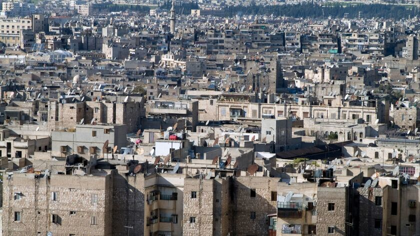 The view over Aleppo from the Citadel in 2012.