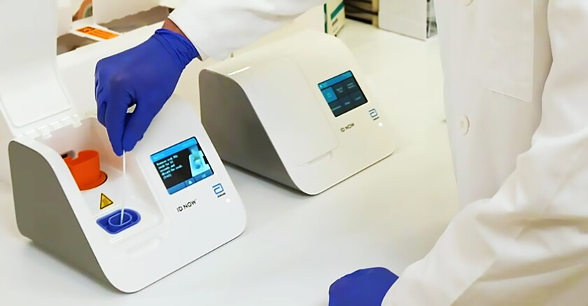The Abbott's ID NOW infectious disease testing platform