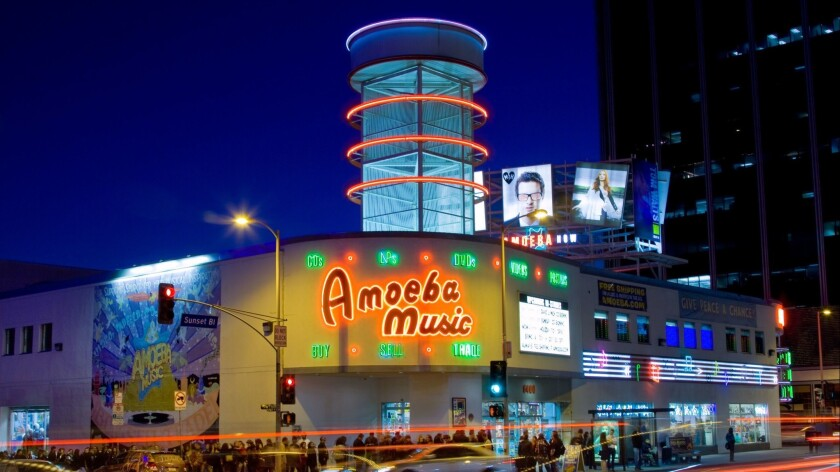 Amoeba Music store on Sunset Boulevard. On Tuesday, the City Council eliminated the final hurdles facing the redevelopment of the site.