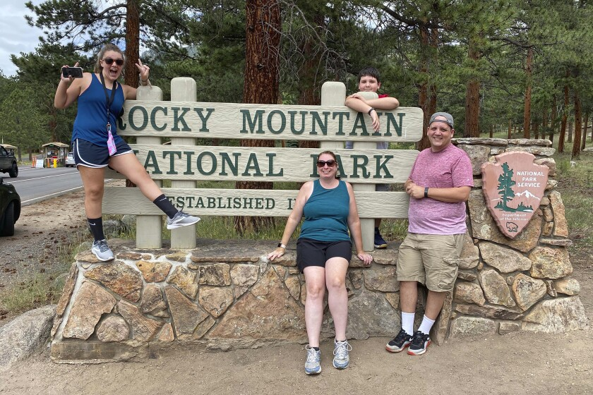 The Silver family at Colorado's Rocky Mountain National Park last month.