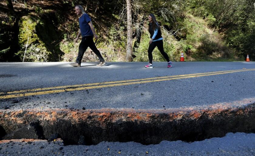 Highway closure isolates Big Sur