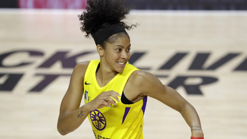 Los Angeles Sparks forward Candace Parker