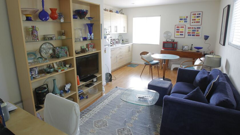 The interior of a granny flat at a home in Carlsbad.