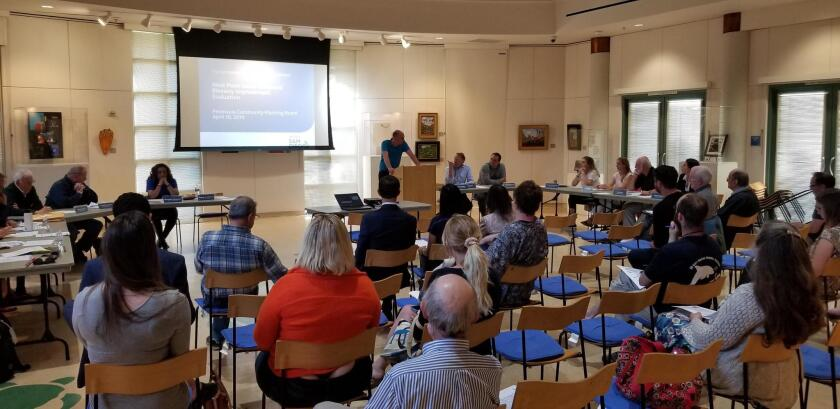PCPB's meeting was packed with people eager to hear about the proposed bike lanes on West Point Loma Boulevard.