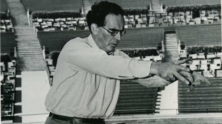 Otto Klemperer Conducting at the Hollywood Bowl Copyright: © Otto Rothschild / LA Phil
