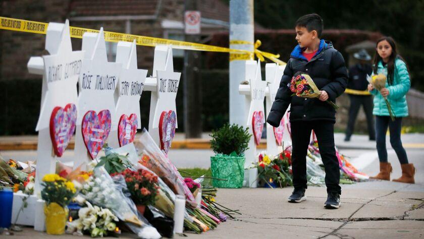 Vigil for victims of synagogue shooting, Pittsburgh, USA - 29 Oct 2018