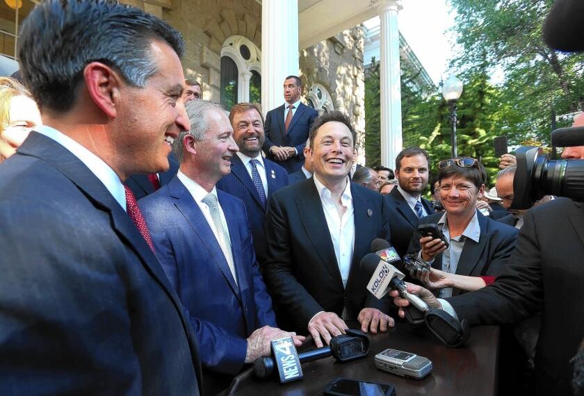 Brian Sandoval, Steve Hill, Elon Musk