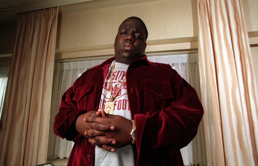 Biggie Smalls, or Notorious B.I.G., in a Los Angeles hotel room in 1997.