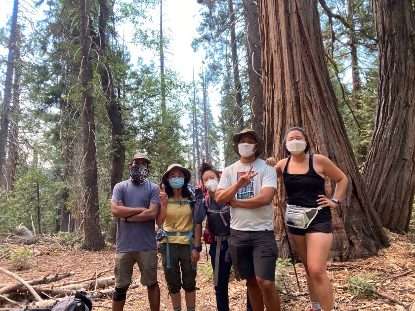 Juliana Park and her friends in the Sierra.
