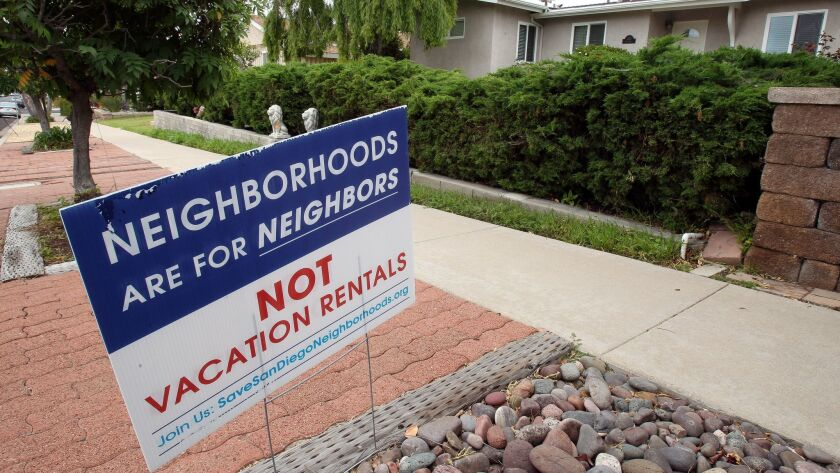 A San Diego City Council committee will consider next week multiple options for regulating short-term rentals, from permissive to restrictive.