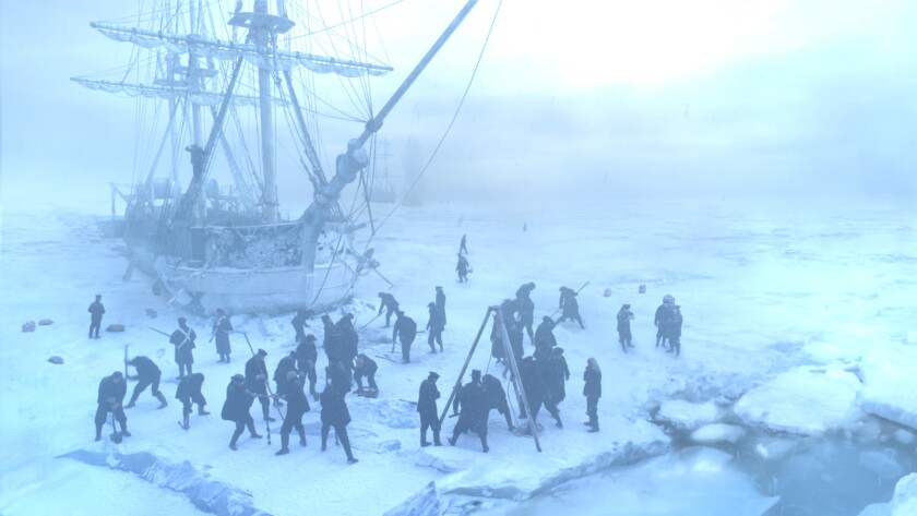 """AMC's """"The Terror,"""" starring Jared Harris, tells the chilling tale of an ill-fated 19th century polar expedition."""