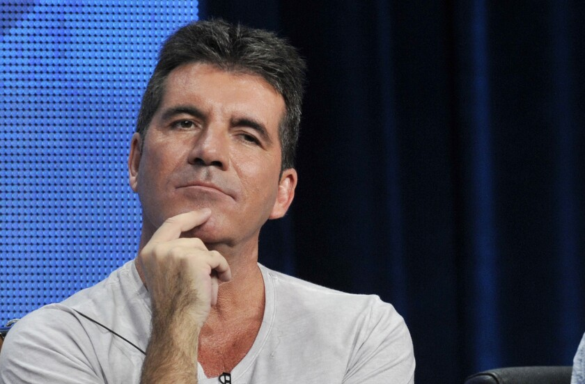 "Simon Cowell, of Fox's now canceled ""The X Factor,"" during a panel discussion on the show at the FOX 2013 Summer TCA press tour."