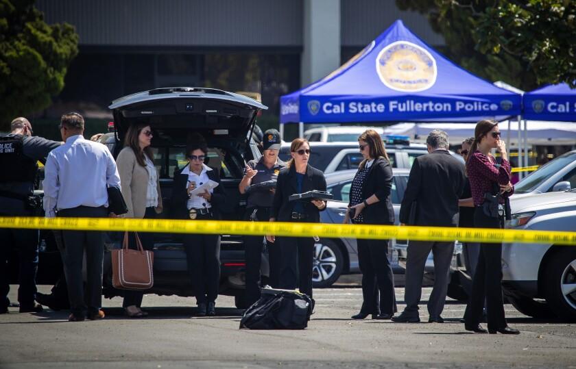 Scene of Cal State Fullerton stabbing