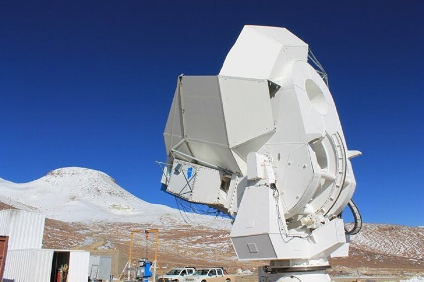 The first POLARBEAR telescope is part of an array of telescopes that UC San Diego operates Chile's Atacama Desert.