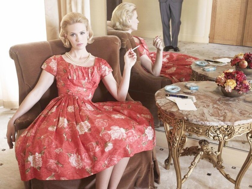 "On ""Mad Men,"" January Jones' Betty Draper maintains a ladylike appearance."