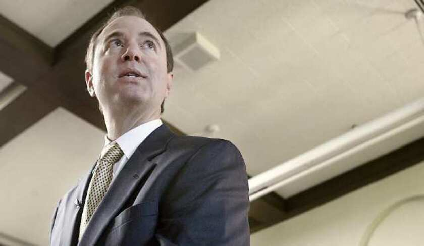 """Rep. Adam Schiff (D-Burbank) is currently facing five challengers for his U.S. House seat in 2020. Republican Eric Early, who announced his candidacy this month, accused the incumbent of being """"obsessed with Trump."""""""