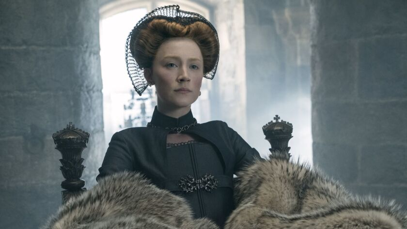 """Saoirse Ronan as Mary Stuart in """"Mary Queen of Scots."""""""