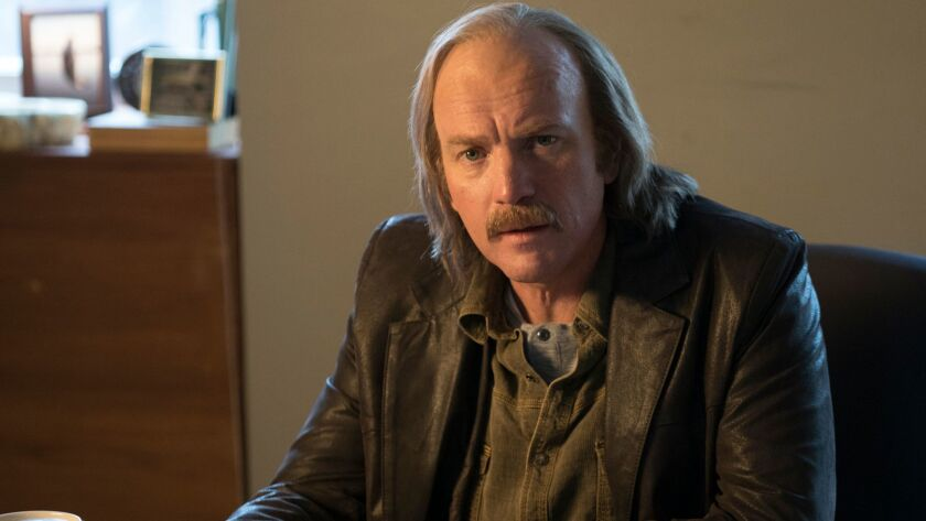 "Ewan McGregor as Ray Stussy in a scene from the third season of ""Fargo."""