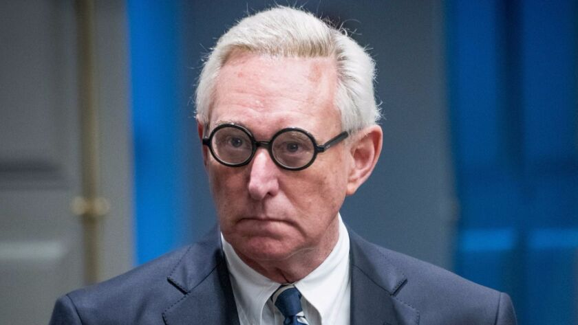Roger Stone in Florida on Tuesday.