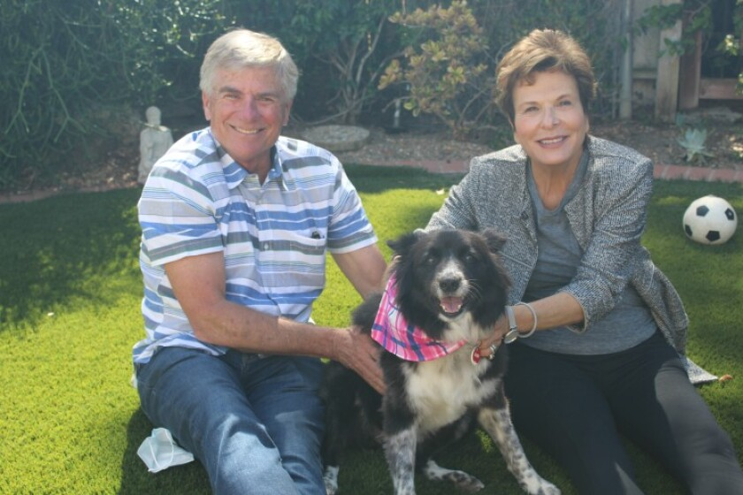 Don and Jean Houts with Osa, their heroic dog.