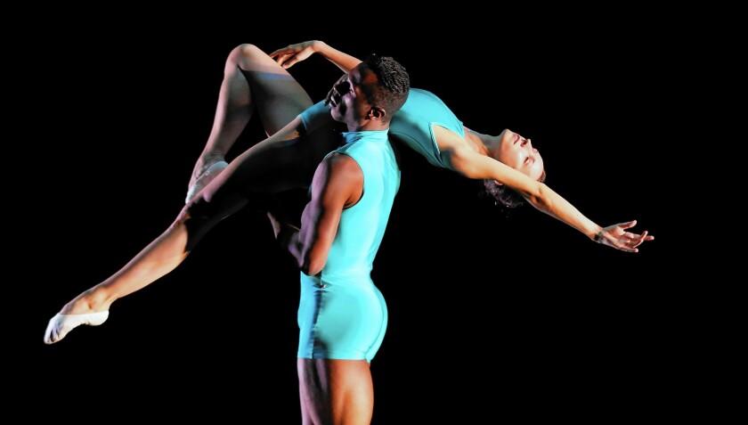 "Dancers rehearse ""Still Life,"" premiering at the Luckman Fine Arts Complex."