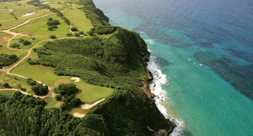 The back nine of the Royal Isabela course has dramatic views of the Atlantic Ocean.