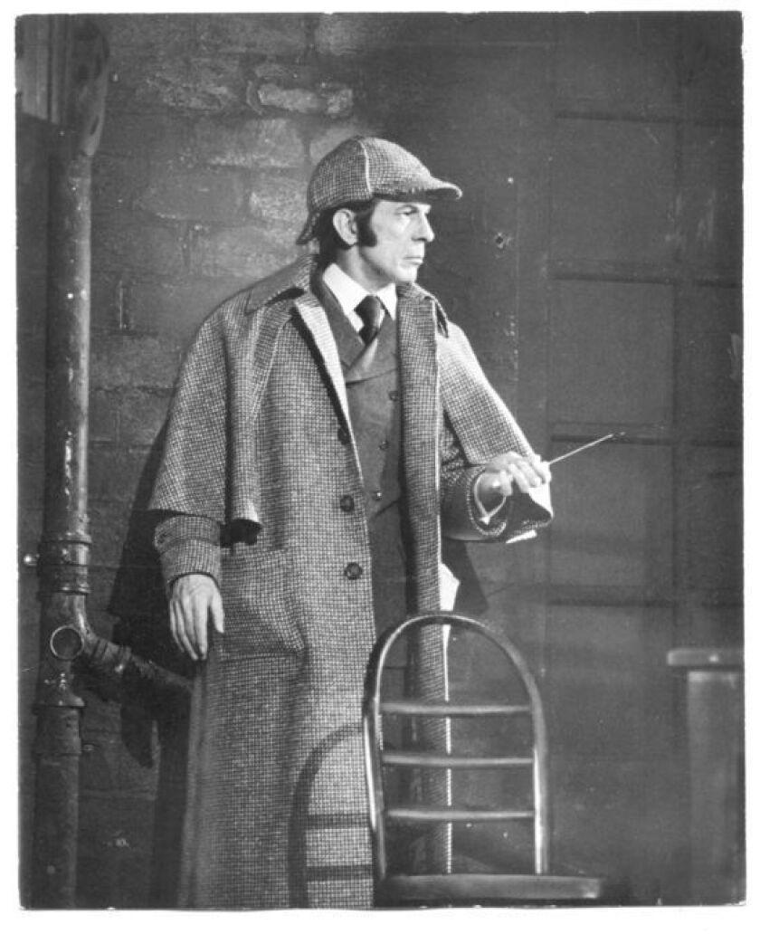 Leonard Nimoy as Sherlock Holmes.