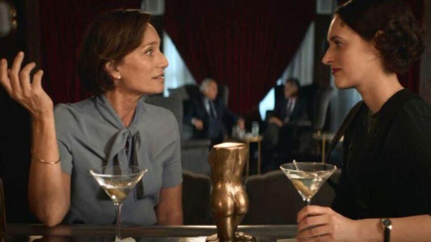 """Kristin Scott Thomas, left, and Phoebe Waller-Bridge in a scene from Season 2 of """"Fleabag."""""""