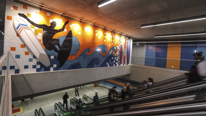 The new Line 4 in the Rio de Janiero subway linked to the Barra da Tijuca neighborhood, an epicenter for the recently completed Olympic Games.